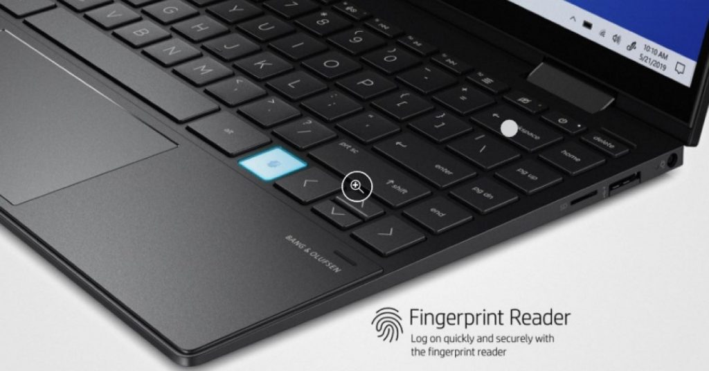 HP Envy x360 13 Review - Finger Print